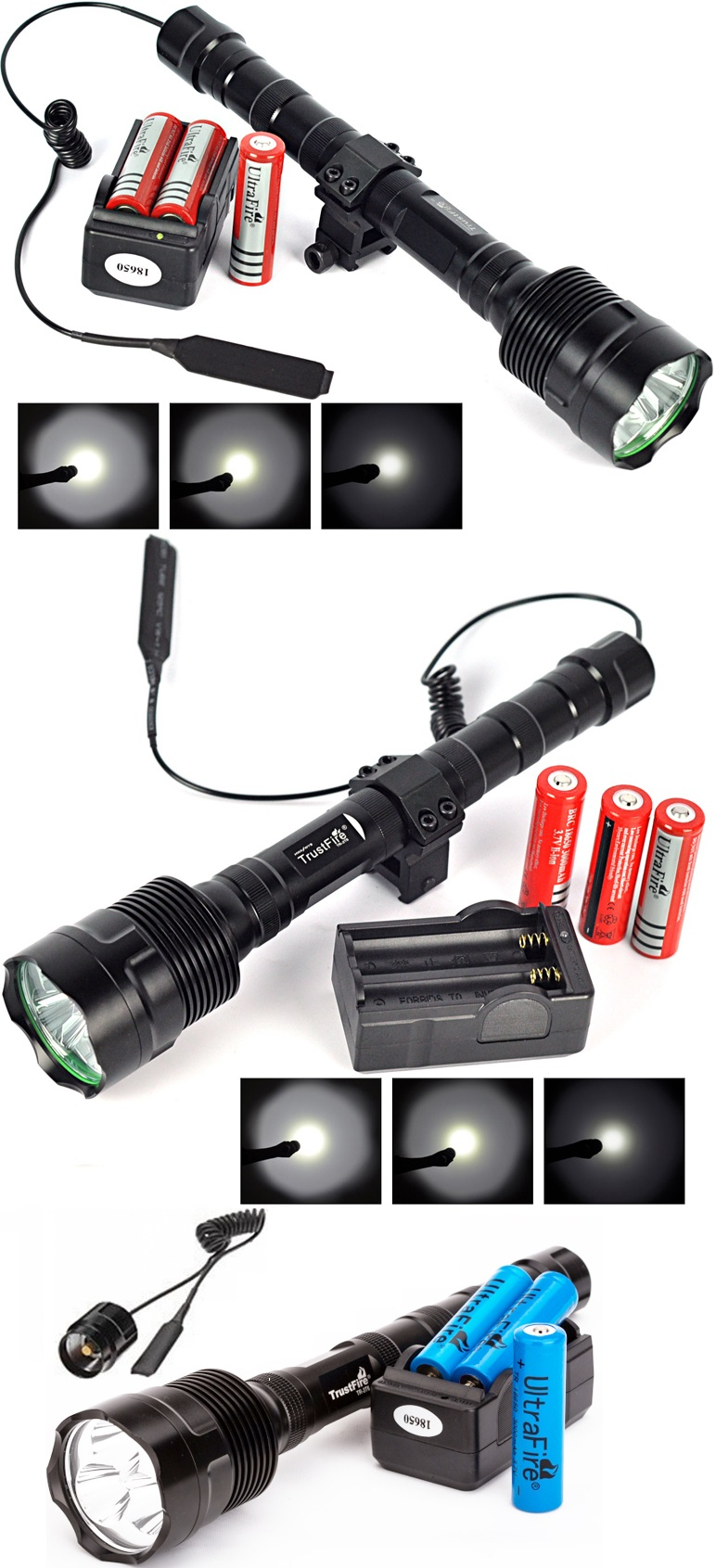 Trustfire-6000Lm-Powerful-XML-3xT6-LED-Tactical-Flashlight-18650-Lantern-5Mode-Torch-Battery-Charger-Remote-Switch